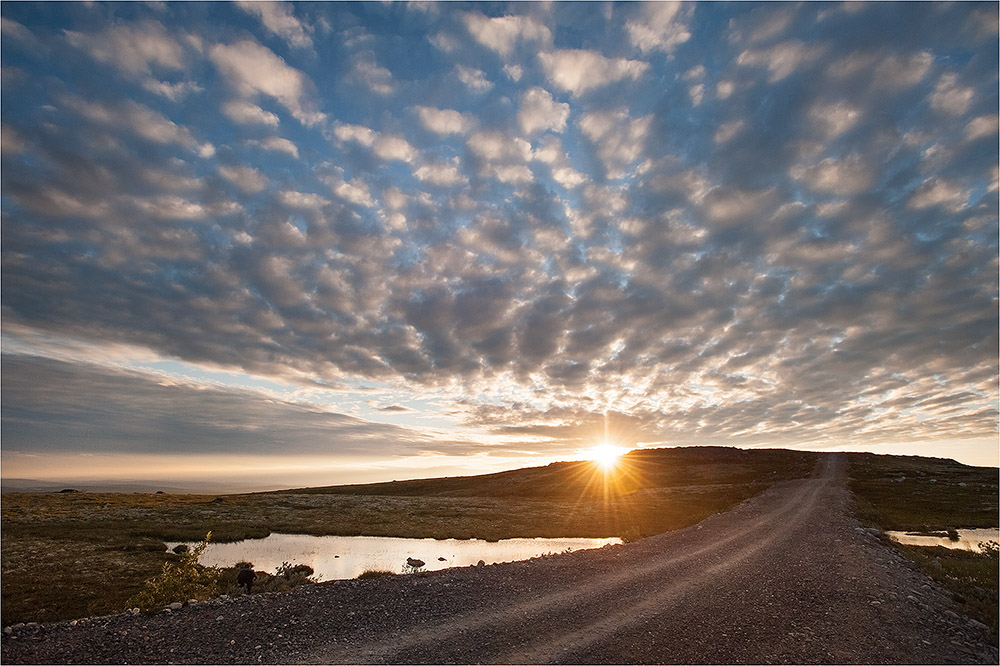 "фото ""Там за горизонтом ....."" метки: пейзаж, закат, осень"