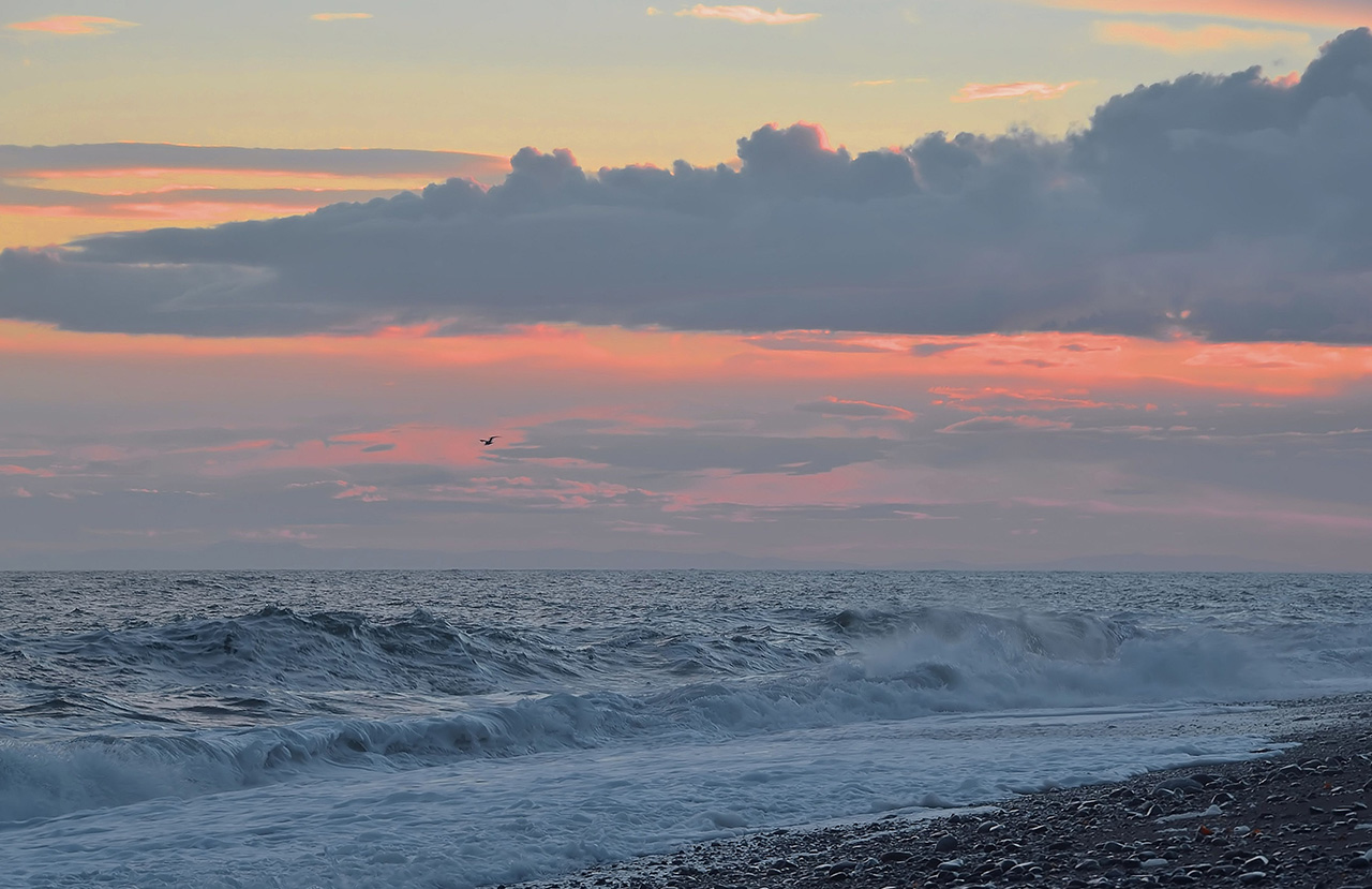 "photo ""***"" tags: , clouds, sea, sunset"