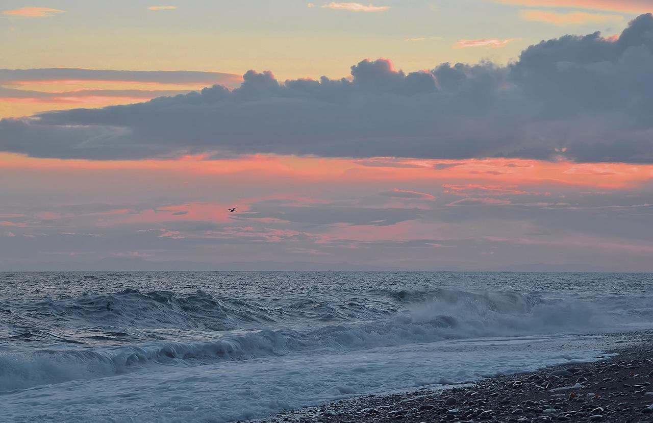 """фото """"Над морем..."""" метки: , закат, море, облака"""