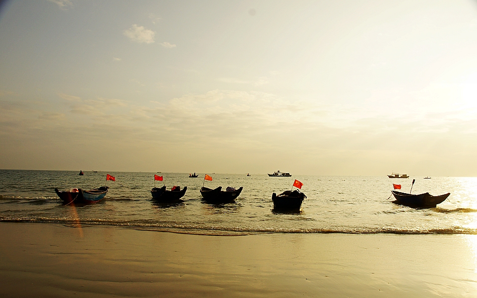 "фото ""The north sea"" метки: путешествия, пейзаж, природа, sea, Азия, вода, закат"