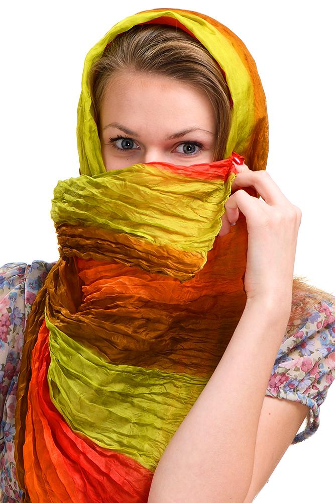 """фото """"А вот так не узнАют?"""" метки: портрет, девушка, шаль, шарф"""