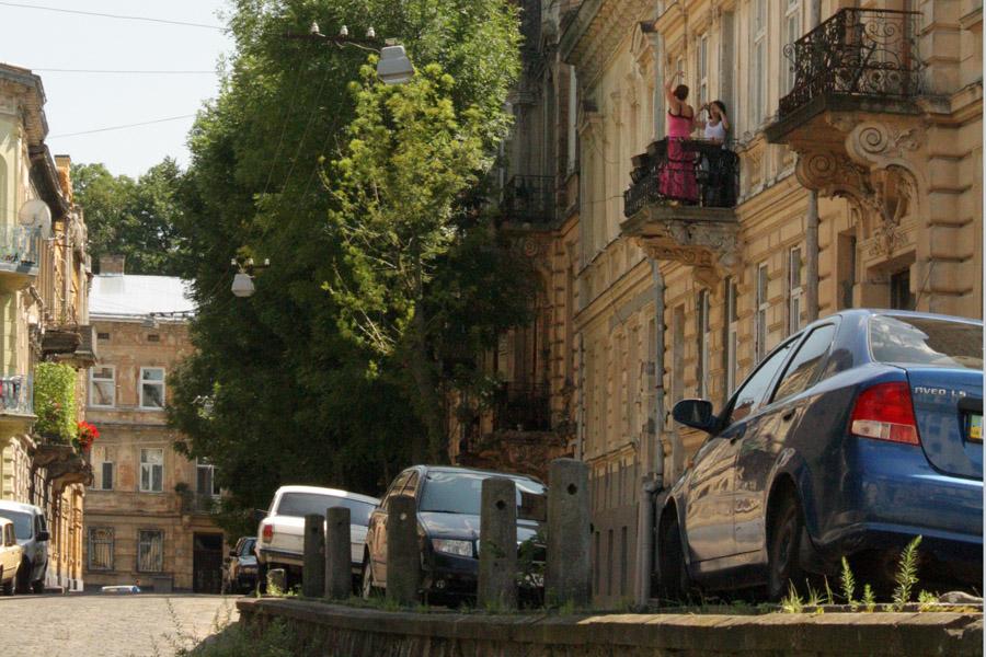 "фото ""Балкон, или Урок фламенко"" метки: стрит-фото, жанр, город,"