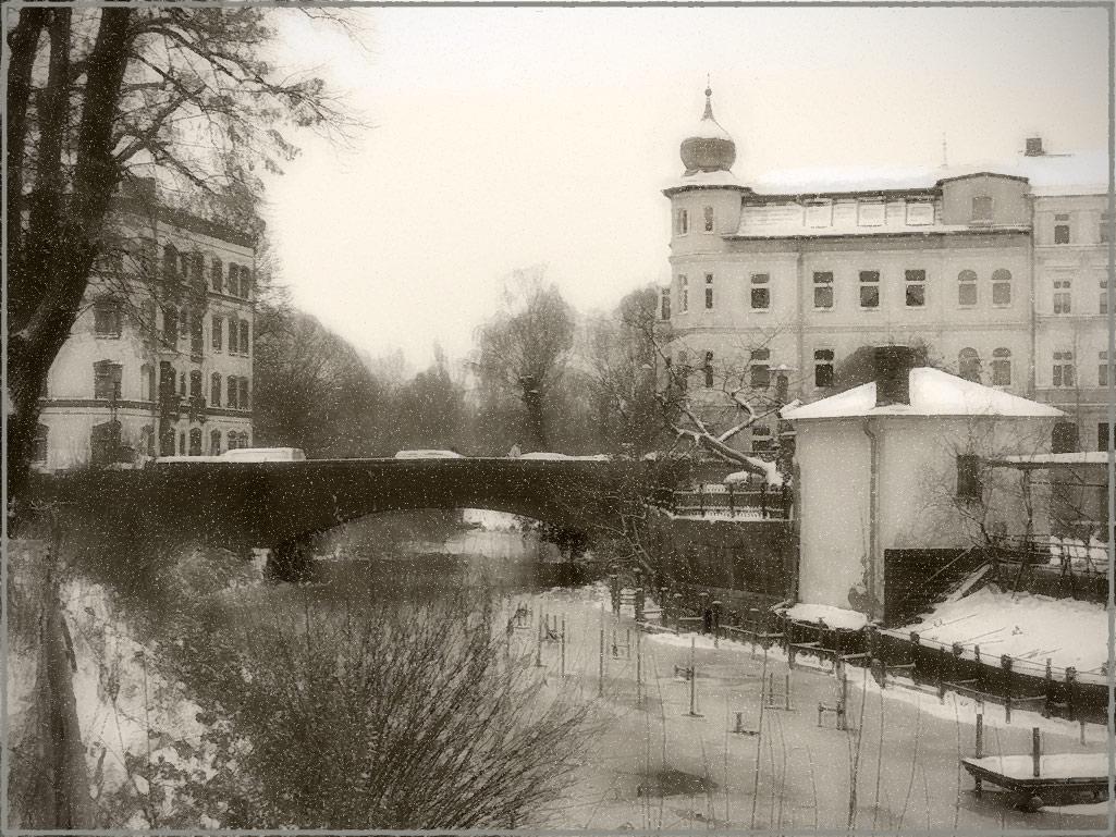 """фото """"В Бранденбурге сегодня Зима..."""" метки: пейзаж, город, foto liubos, бранденбург, германия, снегопад"""