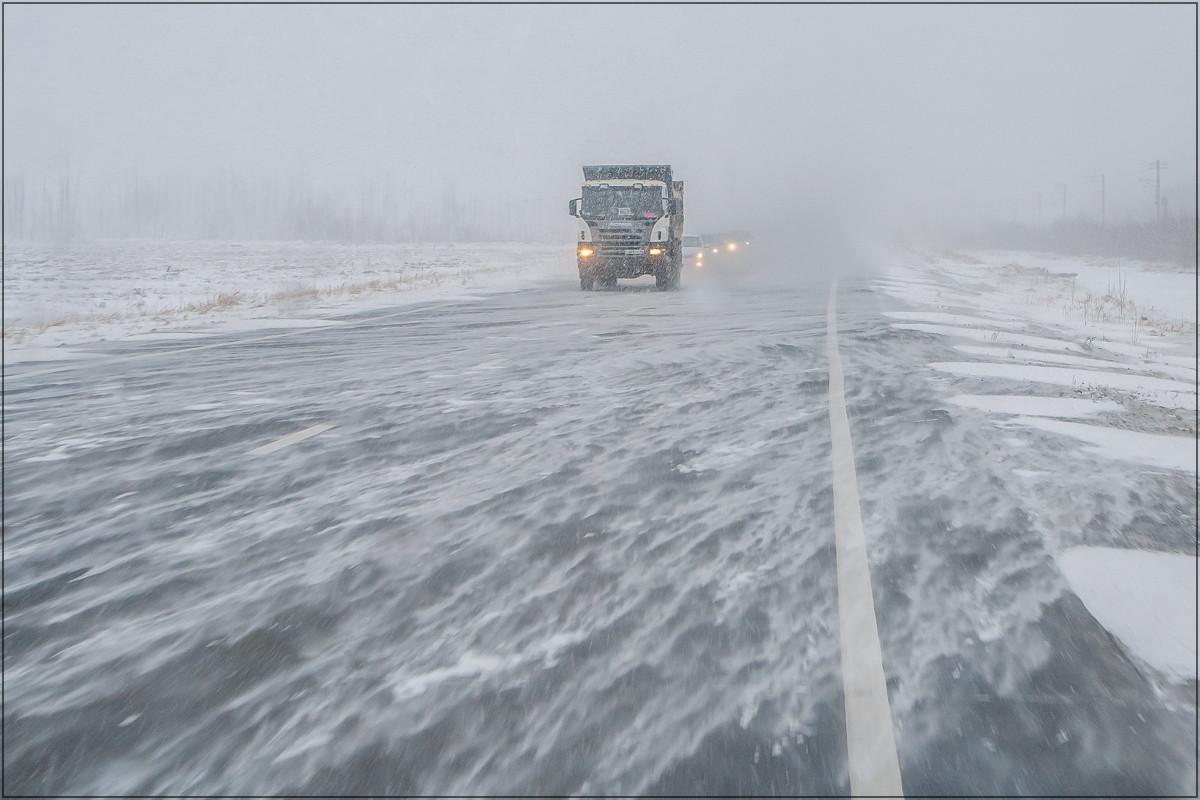 "фото ""А снег идет…"" метки: пейзаж, дорога, зима"