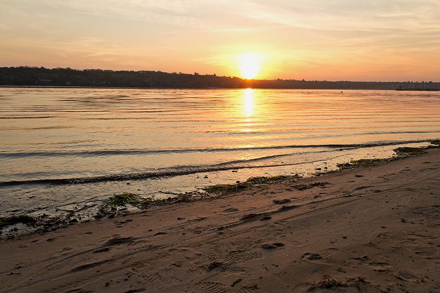 "фото ""Сентябрский закат"" метки: пейзаж, Днепр, Запорожье, Украина, закат, небо, пляж, река"