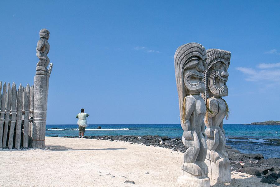 """photo """"***"""" tags: travel, landscape, nature, Big Island, Hawaii, Puuhonua o Honaunau, Гавайи"""