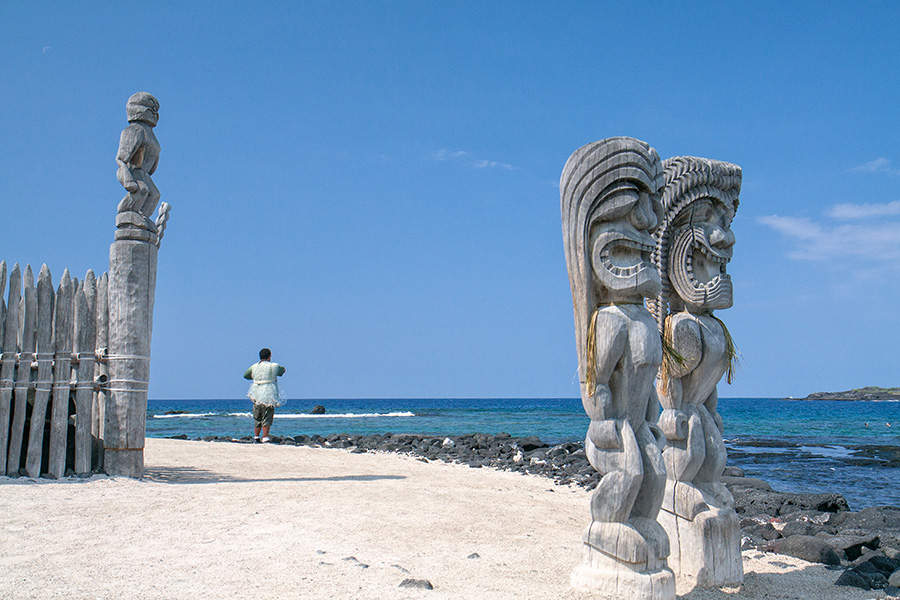 "фото ""рыбак"" метки: путешествия, пейзаж, природа, Big Island, Hawaii, Puuhonua o Honaunau, Гавайи"