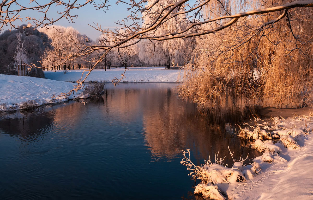 "photo ""***"" tags: landscape, reflections, water, winter"
