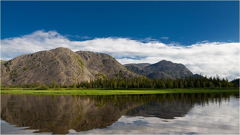 """фото """"Лето. Приполярный Урал."""" метки: пейзаж, вода, горы"""