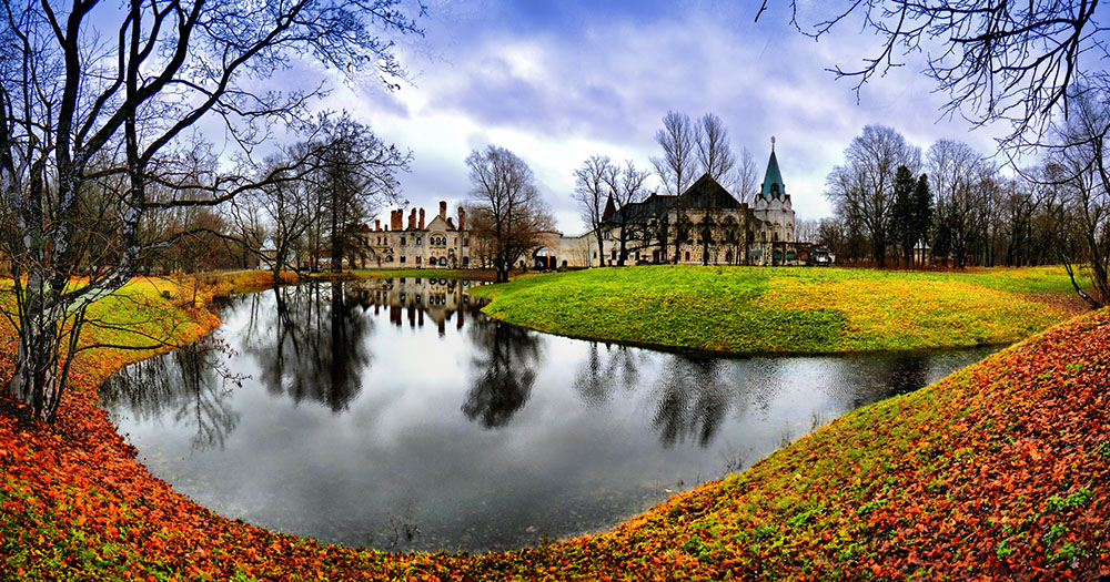 "photo ""Something autumn..."" tags: landscape, architecture, Пушкин, Федоровский городок"