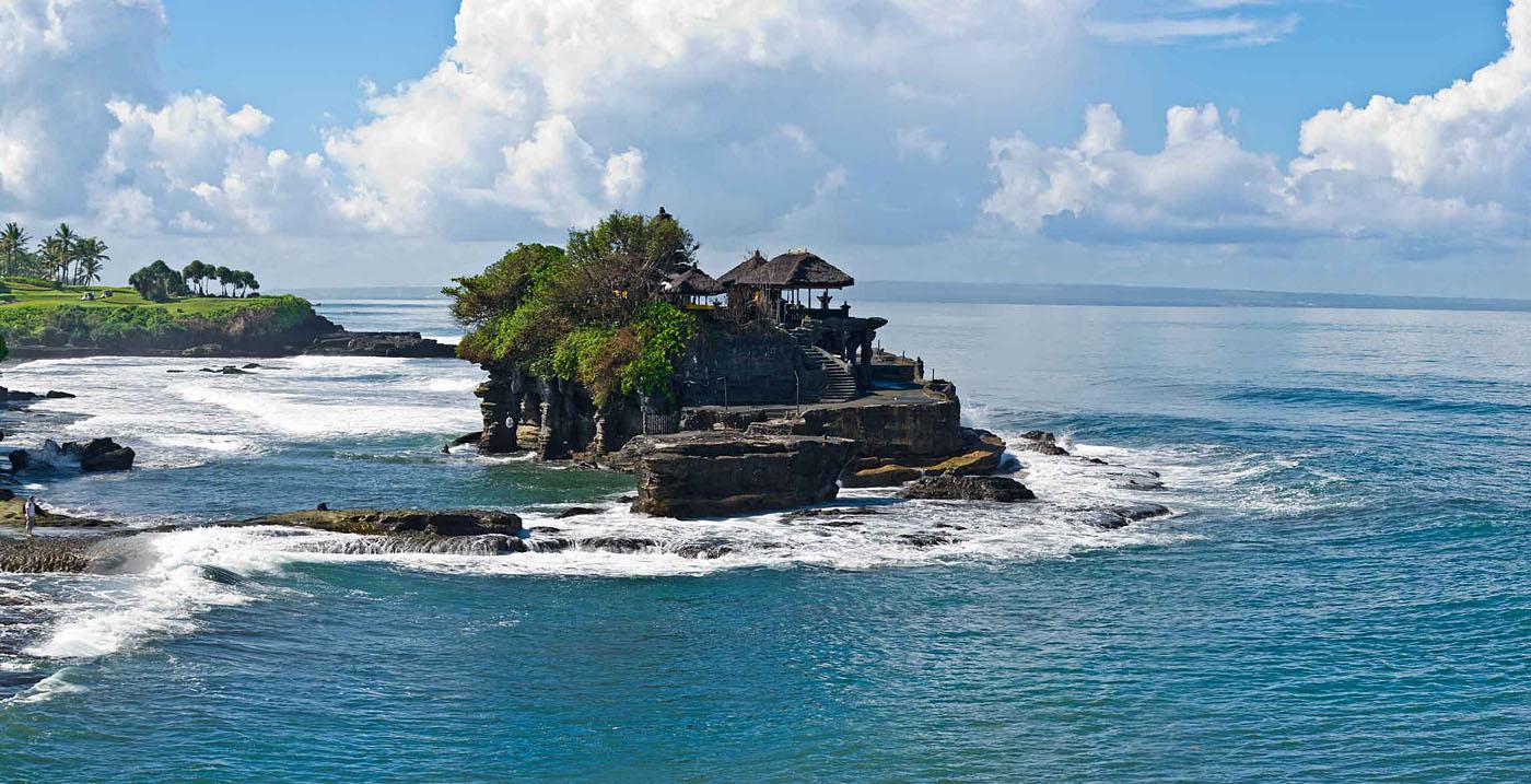 "фото """"Дорога к Храму"""" метки: пейзаж, путешествия, панорама, вода, океан, скалы, турист"