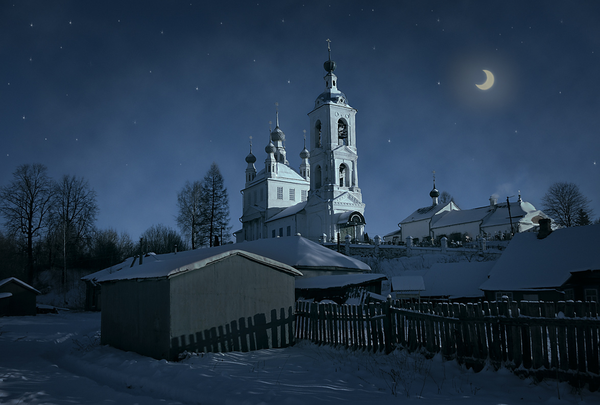 "photo ""***"" tags: landscape, snow, temple, winter, полусумрак"