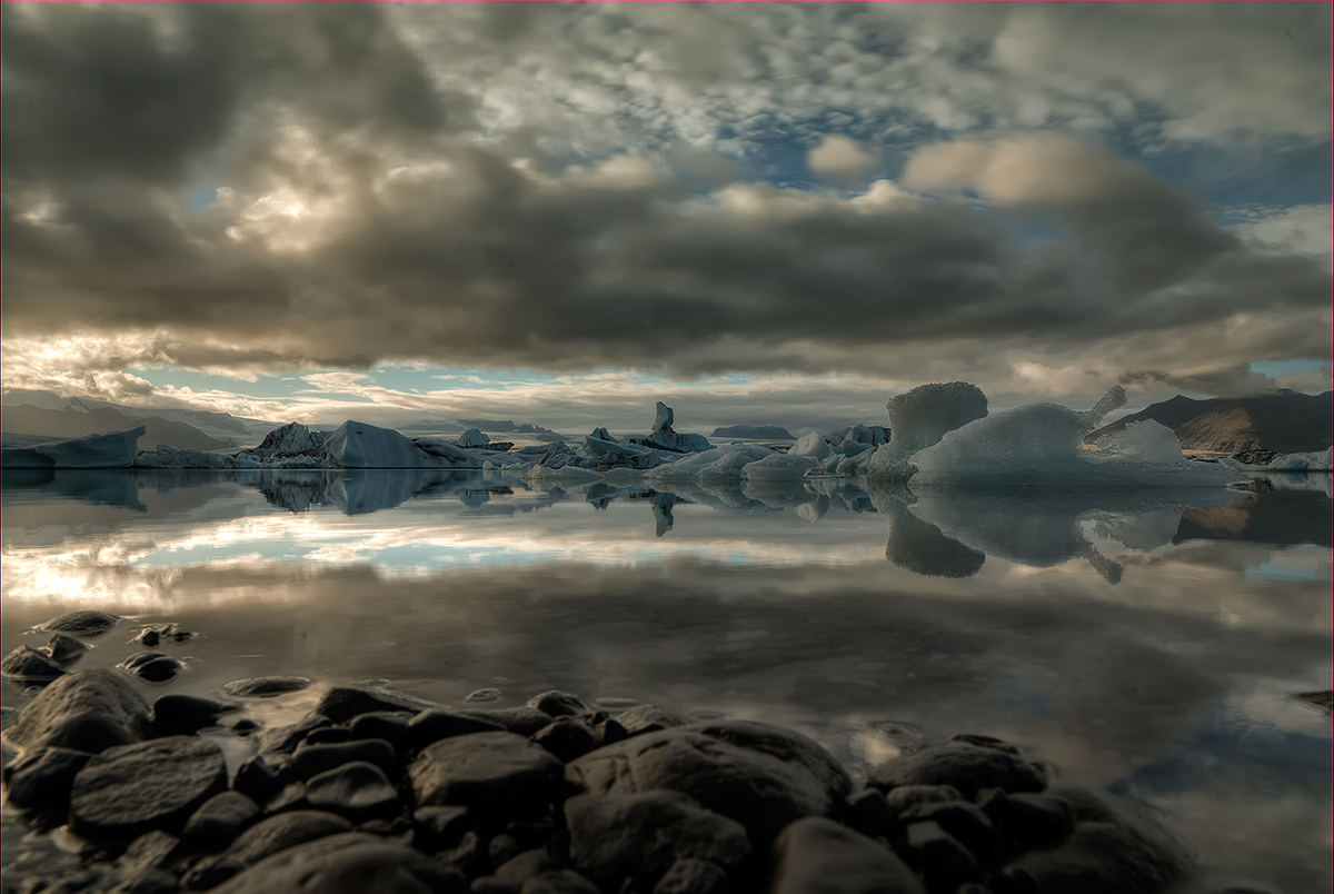 "photo ""***"" tags: landscape, Europe, Ice, clouds, lake, sunset, water"