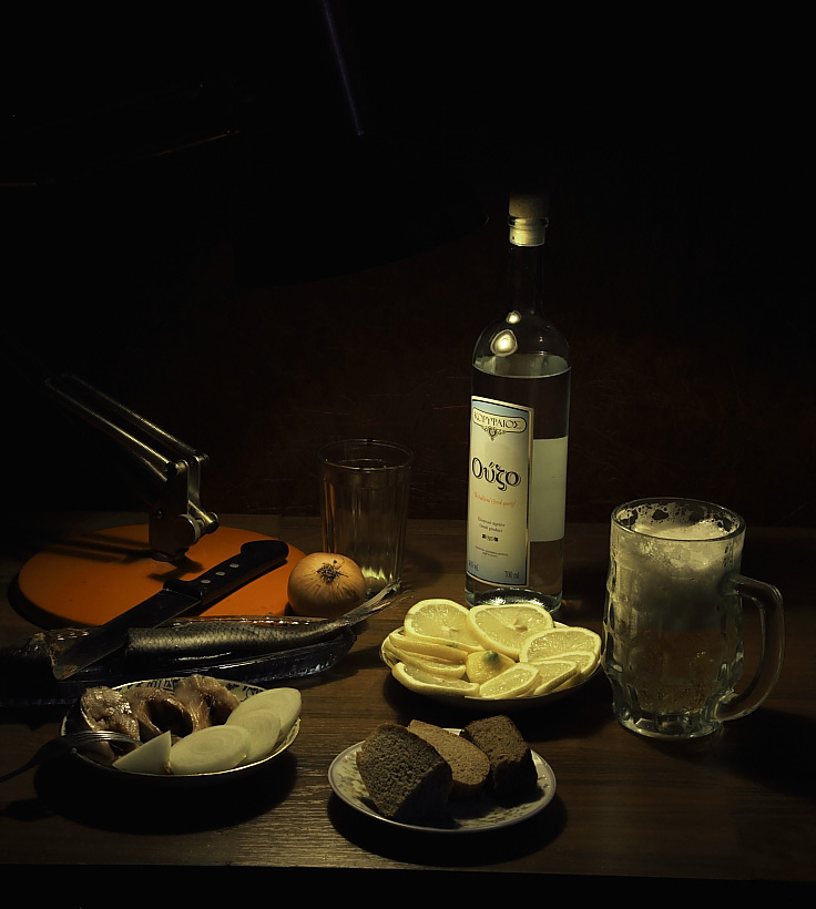 "фото ""***"" метки: натюрморт, водка, лимон, пиво"