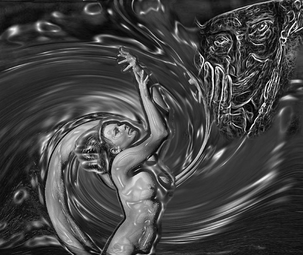 """фото """"Старуха Изергиль"""" метки: digital art, Горький, иллюстрация, старуха Изергиль, фотоарт"""