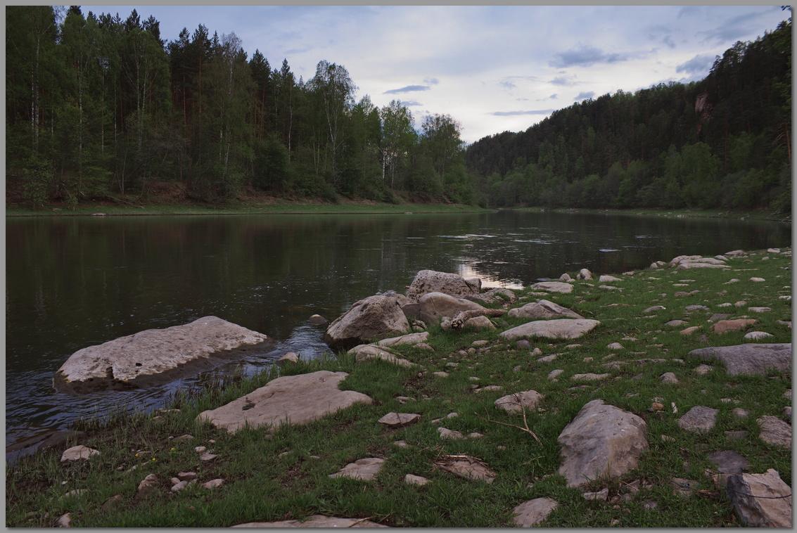 """фото """"Вечер на Юрюзани"""" метки: пейзаж, путешествия,"""