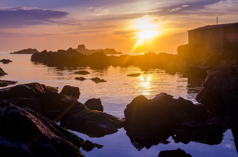 """photo """"***"""" tags: landscape, nature, sea, sunrise, water"""