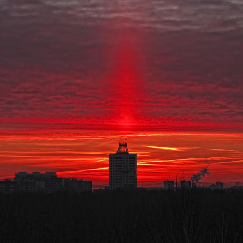 "фото ""Рассвет ...."" метки: город,"