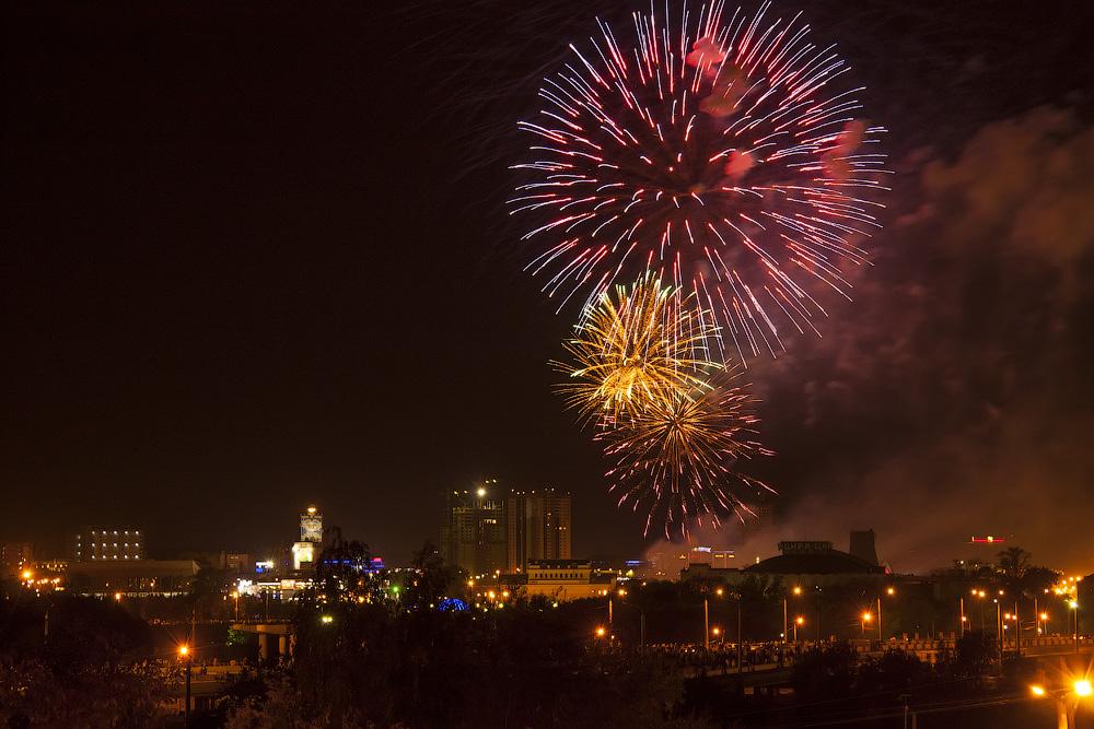 """фото """"Праздник города"""" метки: город, праздник, фейерверк"""