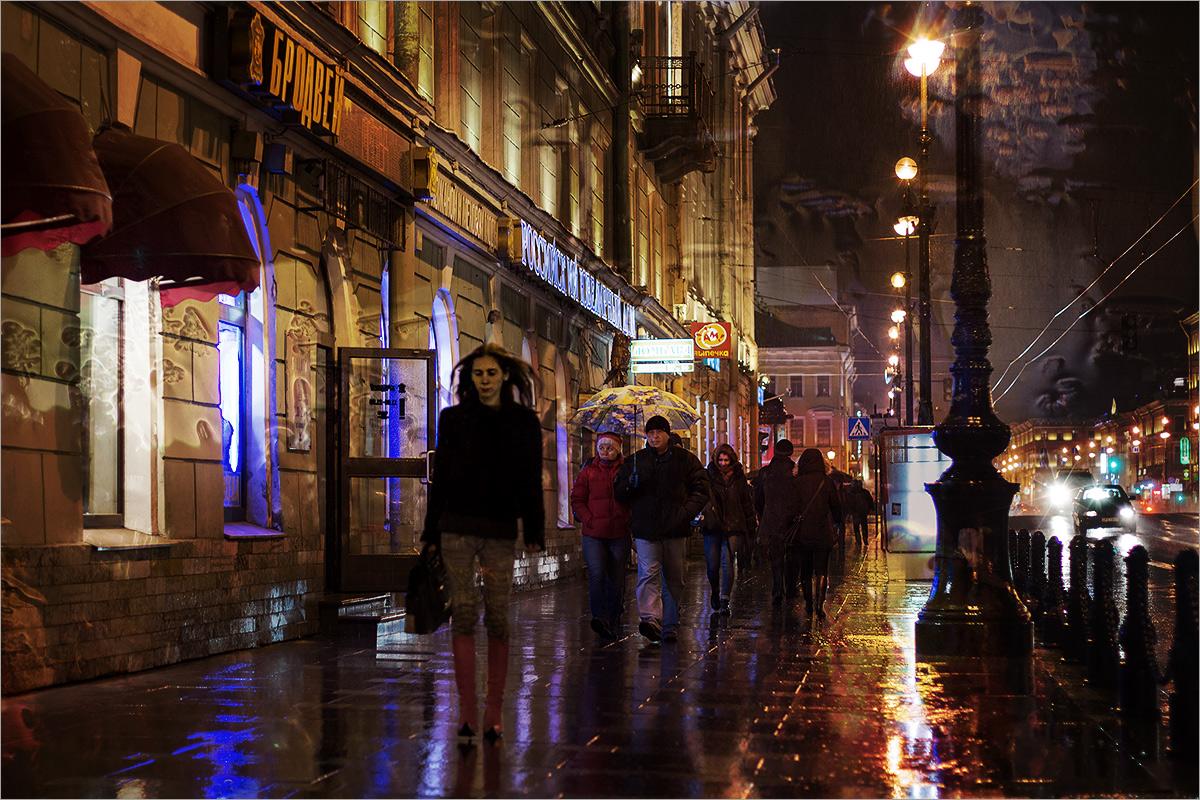 "фото ""***"" метки: город, фотомонтаж, Санкт-Петербург, дождь, осень"