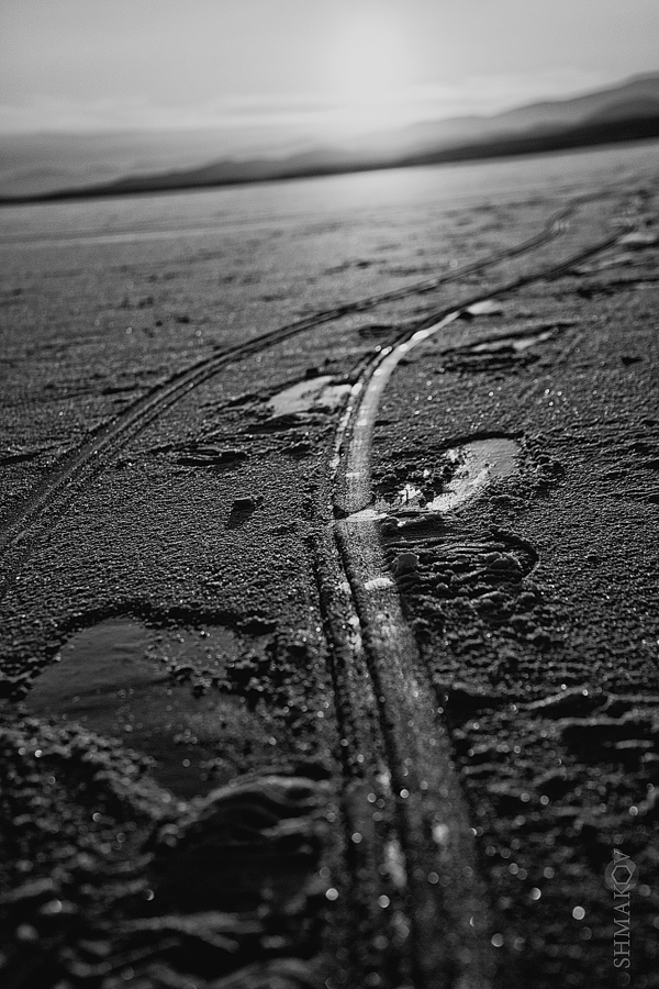 "photo ""the way"" tags: landscape, black&white, winter"