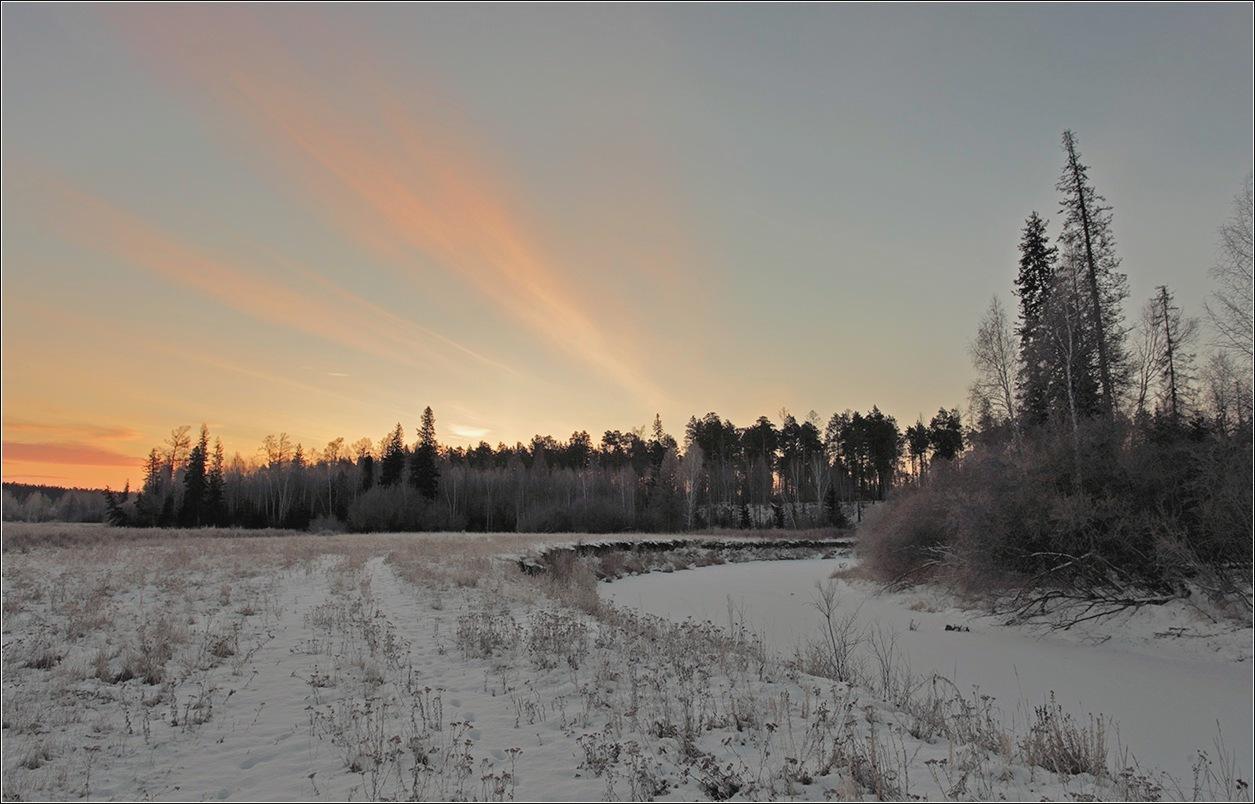 """фото """"Утренняя аврора...начало зимы"""" метки: пейзаж,"""