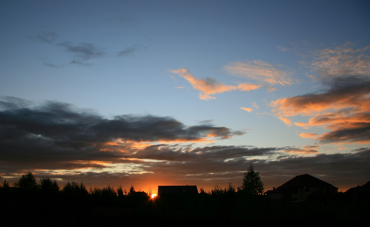 """фото """"Подмосковные вечера"""" метки: пейзаж, закат"""