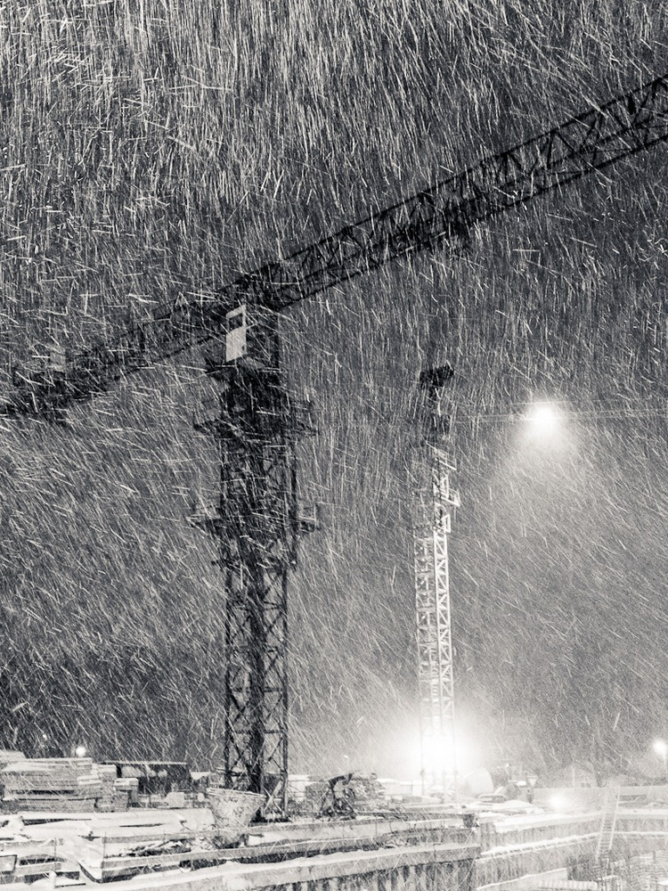 "photo ""Blizzard"" tags: landscape, city, technics, winter"