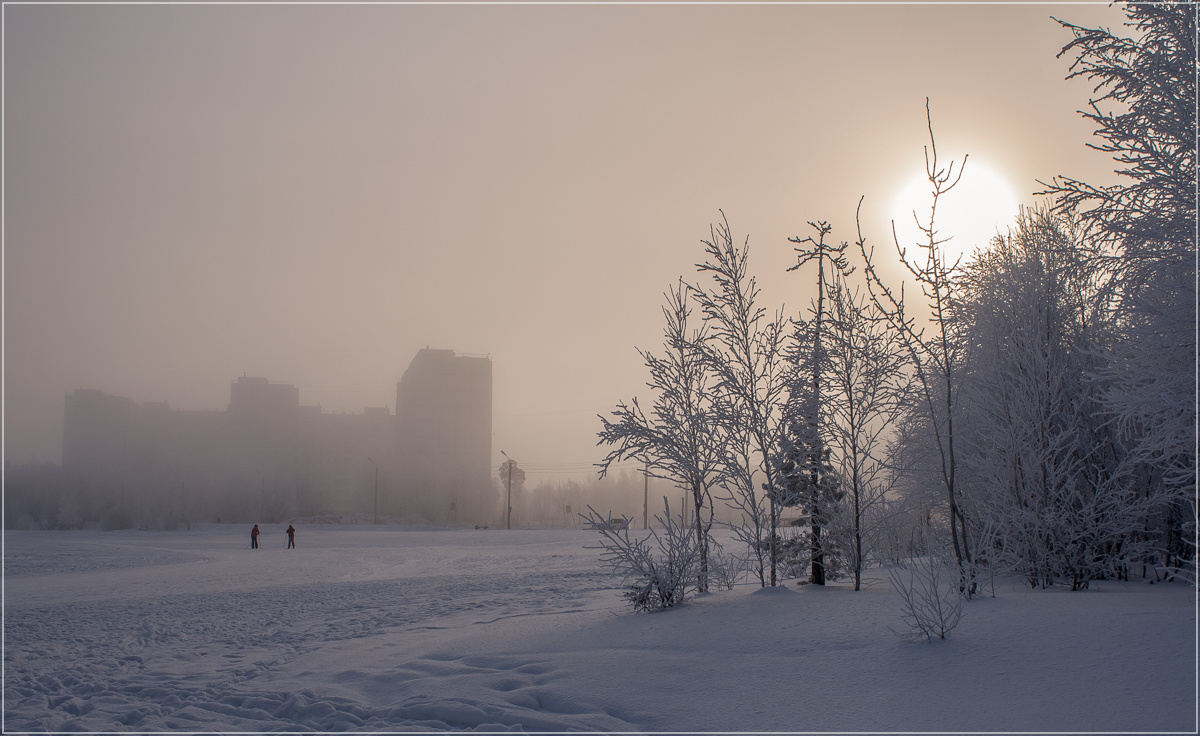 "photo ""***"" tags: landscape, city, winter, мороз"