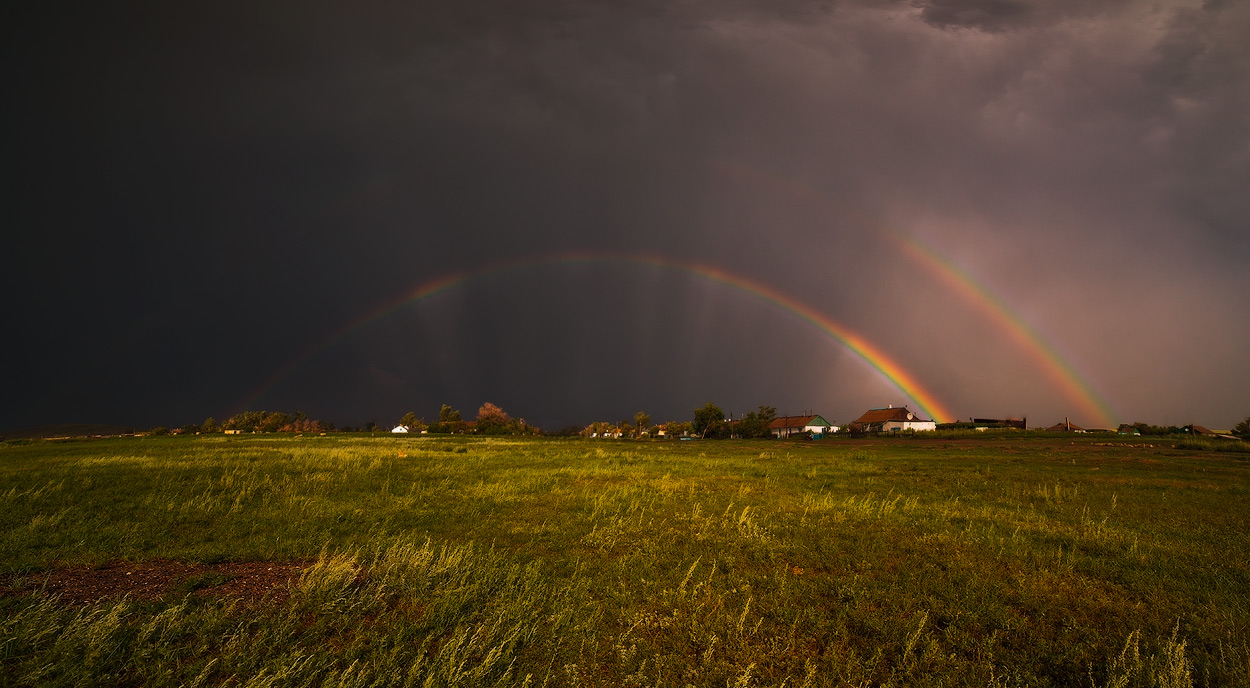 "photo ""***"" tags: landscape, light, rainbow, тучи"