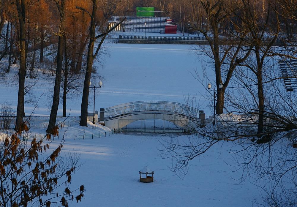 "фото ""Зима в Нескучном саду."" метки: пейзаж, город, Москва, зима"
