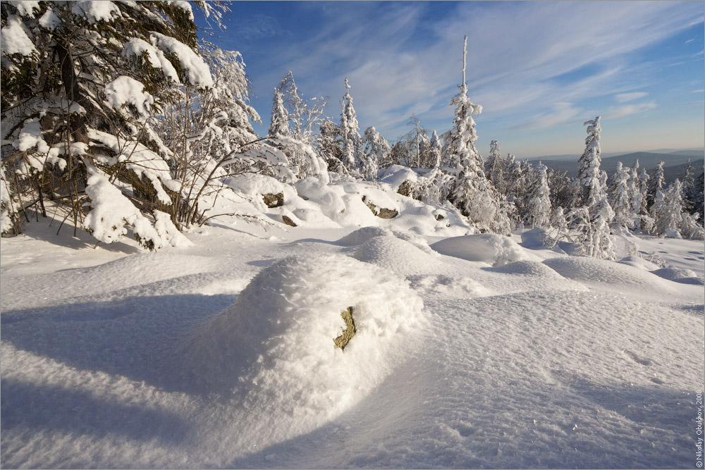 """фото """"0190_0026"""" метки: пейзаж, зима, лес, солнце"""