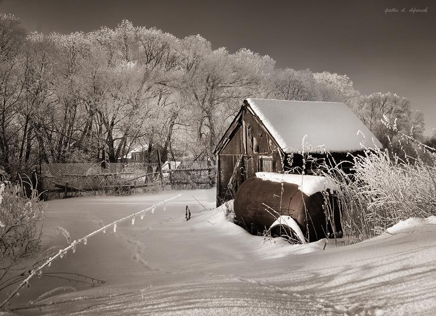 """фото """"Зимой в деревне"""" метки: ,"""