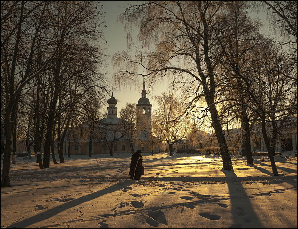 "фото ""Зимние тени"" метки: город, зима"