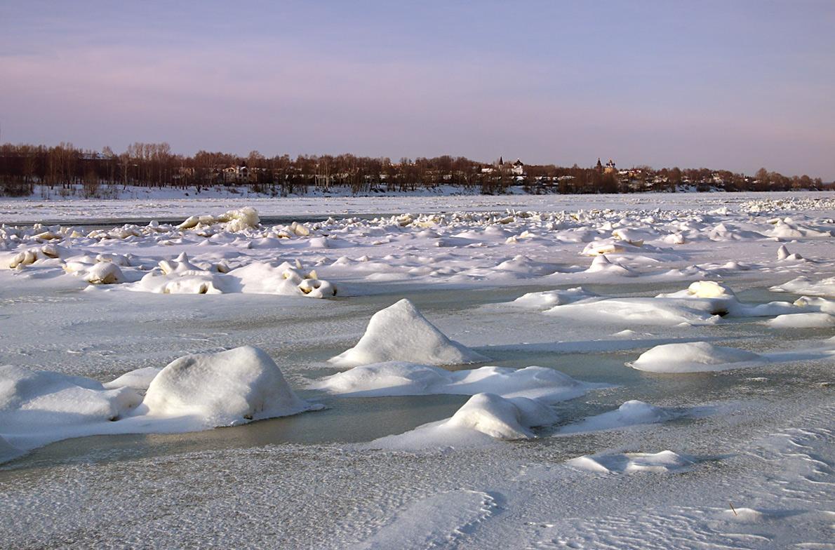 "фото ""Замерзшая река"" метки: пейзаж, зима, лед, река"