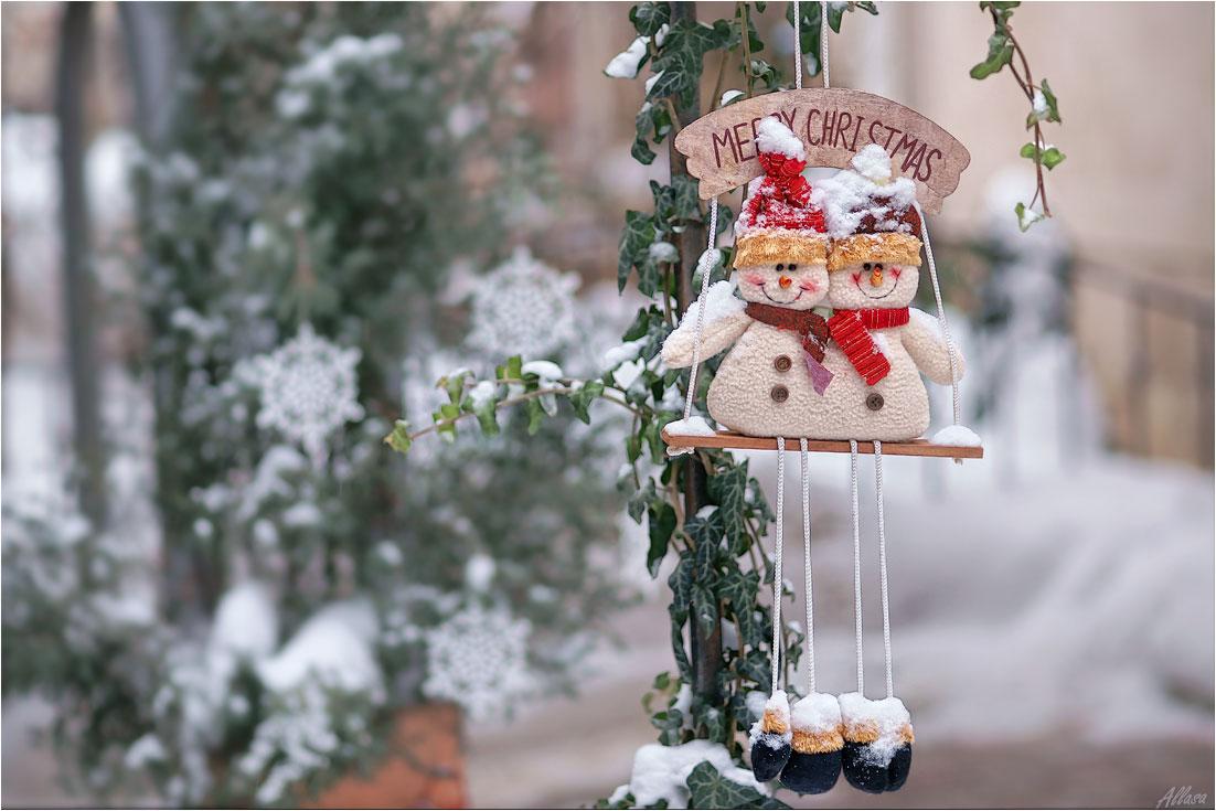 "фото ""Про двух веселых снеговичков"" метки: ,"