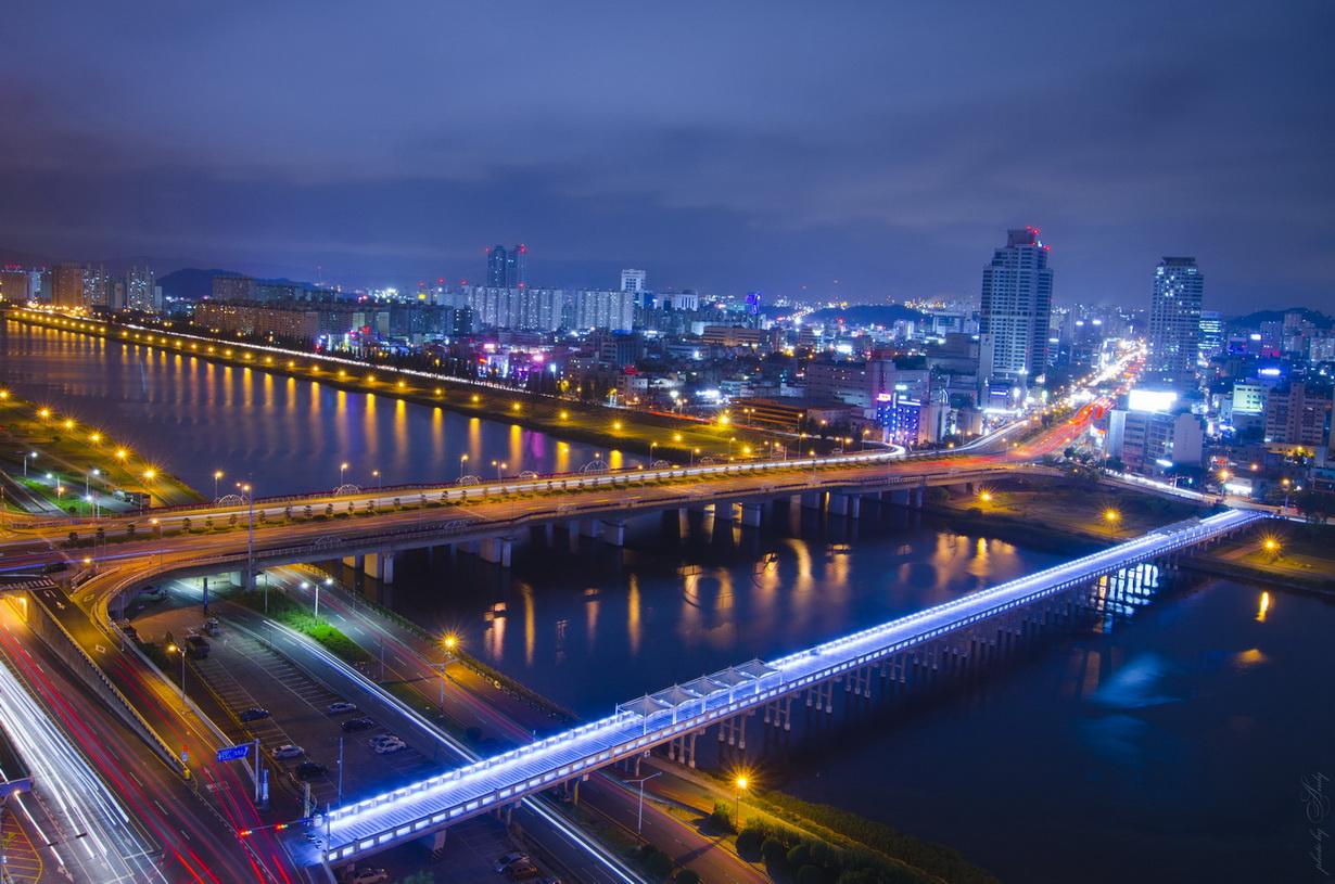 "фото ""***"" метки: пейзаж, город, корея, мост, ночь"
