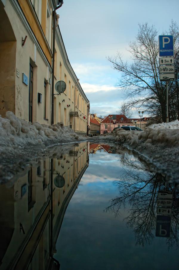 "фото ""***"" метки: город, Европа, Литва, вода, зима, итд"
