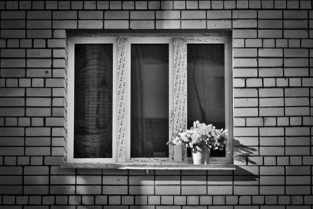 "фото ""Одно окно"" метки: стрит-фото, черно-белые,"
