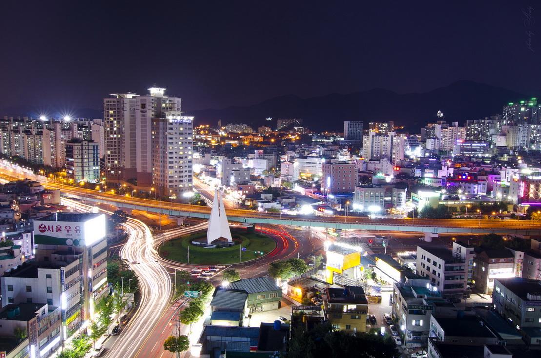 """фото """"***"""" метки: город, пейзаж, корея, ночь"""