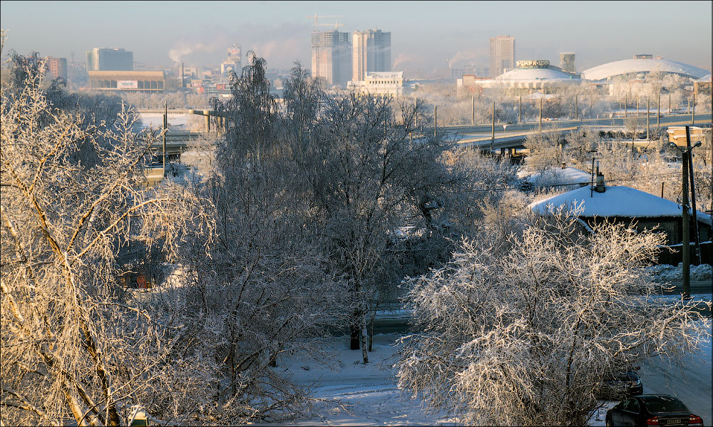 "фото ""Зимнее утро"" метки: город, зима, утро"