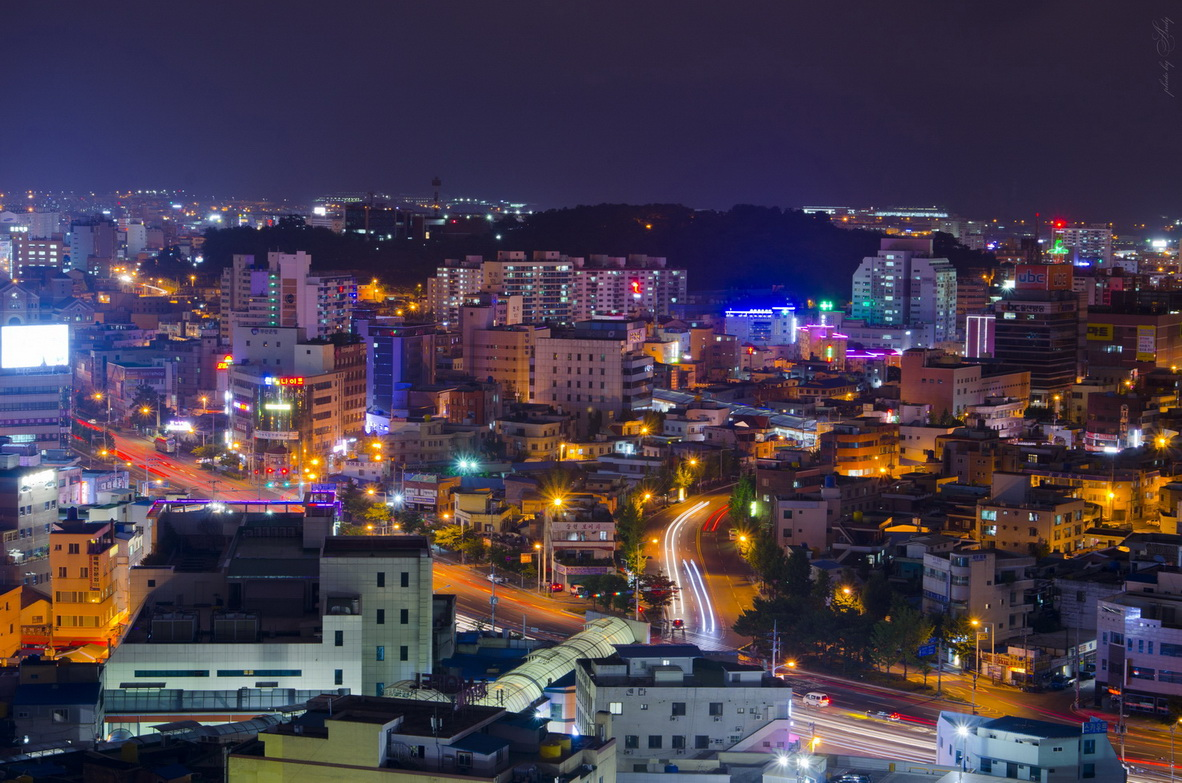 "фото ""***"" метки: город, пейзаж, архитектура, корея, ночь"