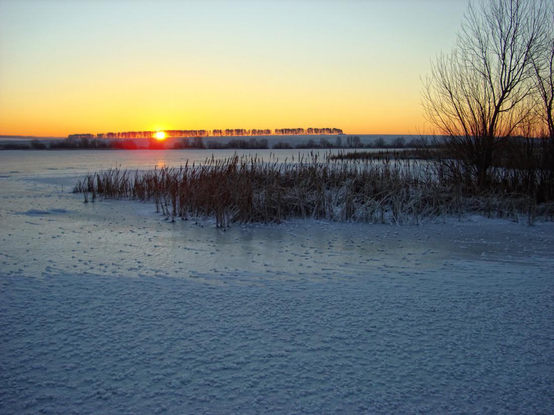"""фото """"..зимний рассвет.."""" метки: пейзаж, зима, утро"""