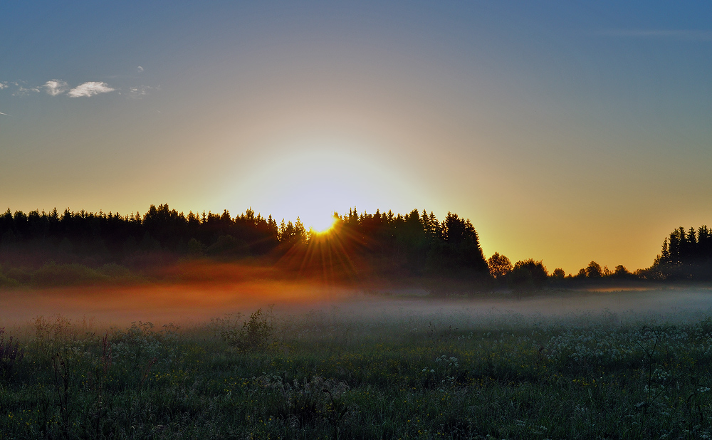 "photo ""***"" tags: landscape, summer, рассвет."