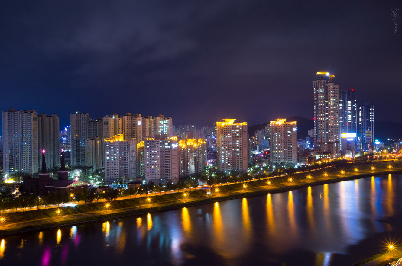 "photo ""***"" tags: landscape, city, night, корея"