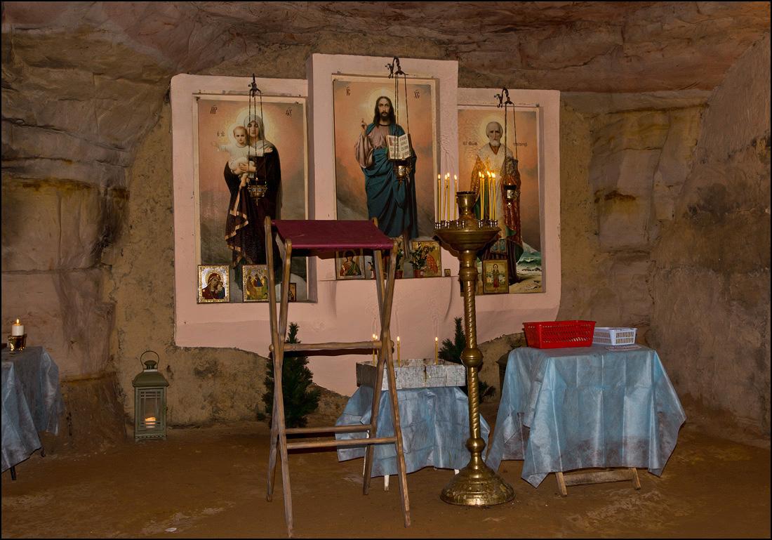 """фото """"В подземной часовне..."""" метки: путешествия, Саблино, памятник природы, пещеры"""