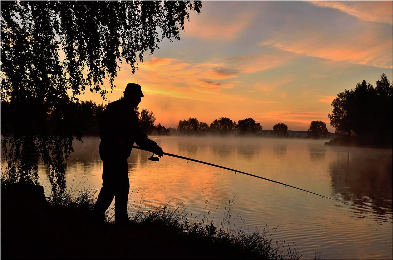 """фото """"***"""" метки: пейзаж, спорт, вода, лето, небо, облака, отражения, пруд, утро"""