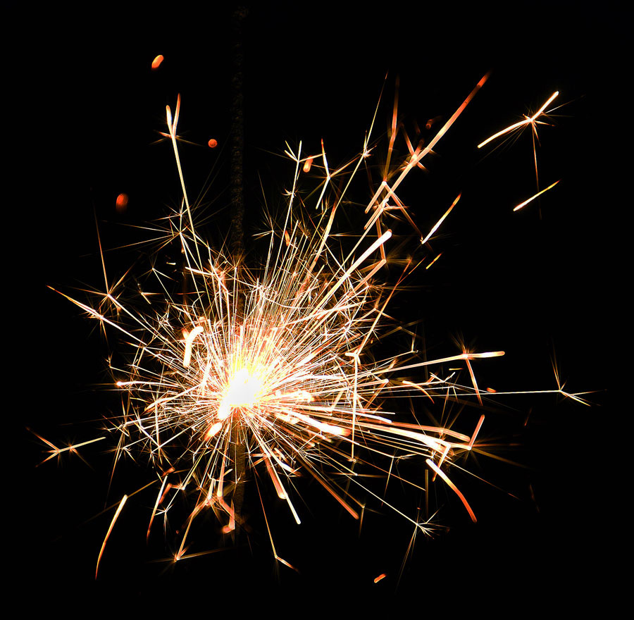 """фото """"С Новым Годом, друзья!"""" метки: макро и крупный план, бенгальский огонь"""
