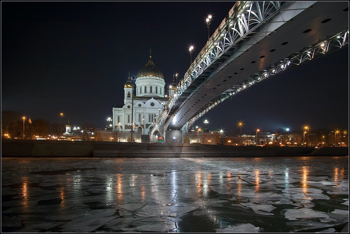 "photo ""winter evening in Moscow"" tags: city, architecture,"