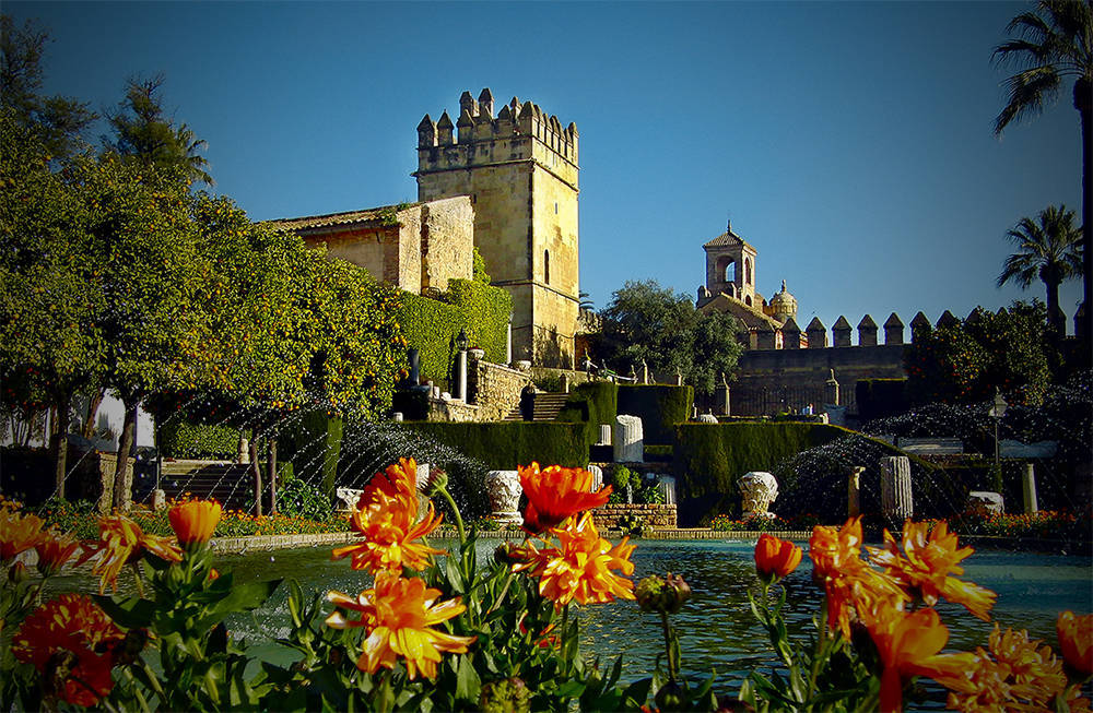 "фото ""Garden of Alcazar of Cordoba"" метки: архитектура,"